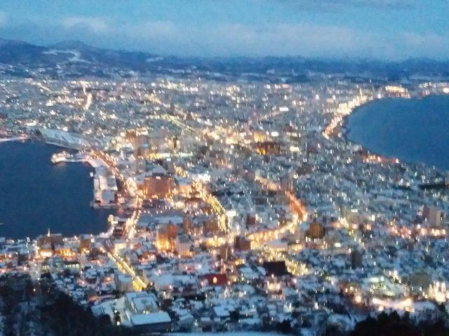 日本三大夜景 函館産展望台からの夜景 ホント、素晴らしい_函館