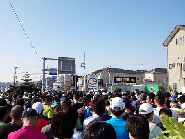 スタート前_三浦海岸海水浴場