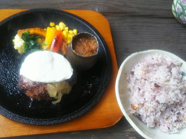 フォーチュドエッグのせハンバーグ。_森のレストラン