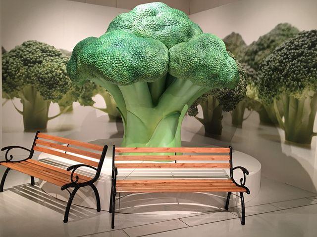 ミニチュアの世界に入り込んだような写真を撮影できるベンチもありました☆_長崎歴史文化博物館