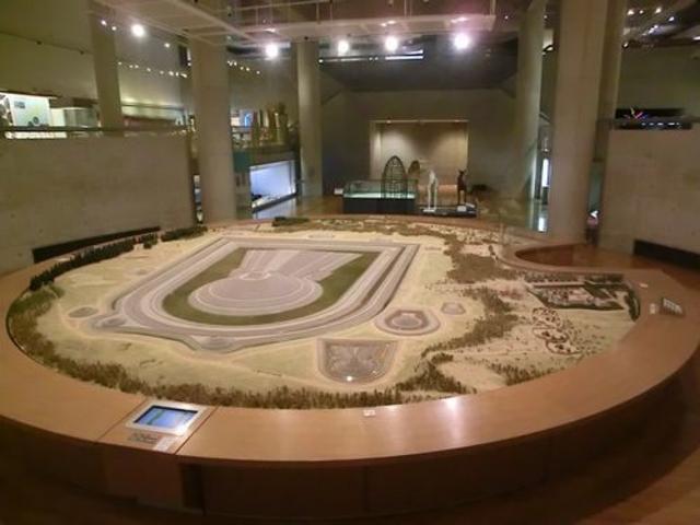 仁徳天皇陵模型_大阪府立近つ飛鳥博物館
