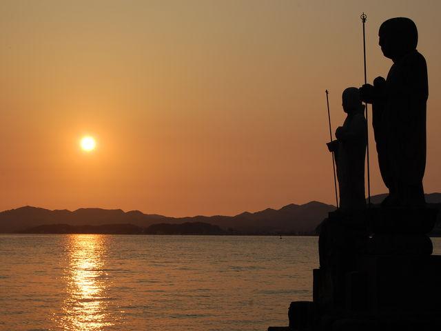 宍道湖夕景2_島根県立美術館