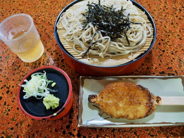 蕎麦と五平餅_妻籠宿