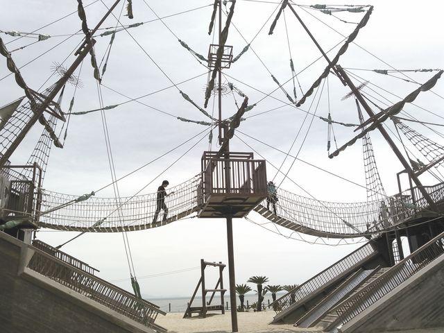 傾斜が多いので運動になるw_広野海岸公園