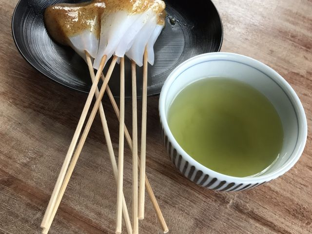 味噌こんにゃく。辛味と甘みがあり、辛味を食べました。_大久保茶屋