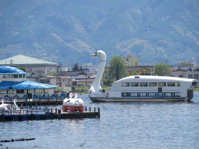 アヒルの客船_諏訪湖一周遊覧船すわん
