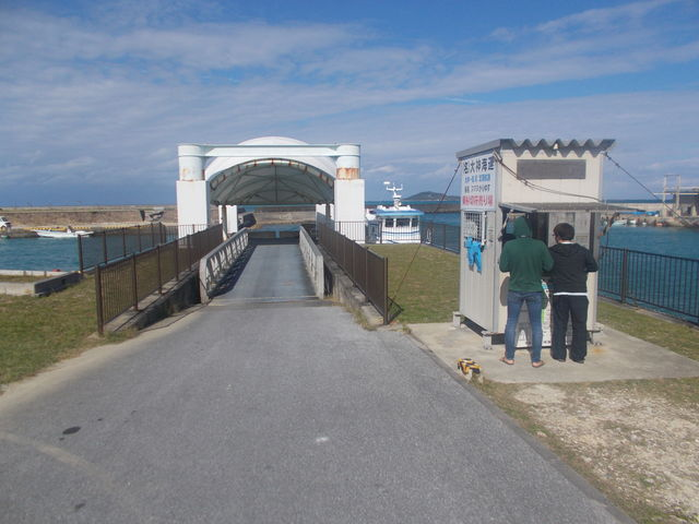 大神島へは島尻漁港のここからエントリー_大神島