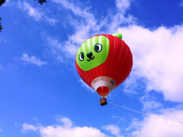 安曇野气船・アルクマ熱気球係留飛行体験