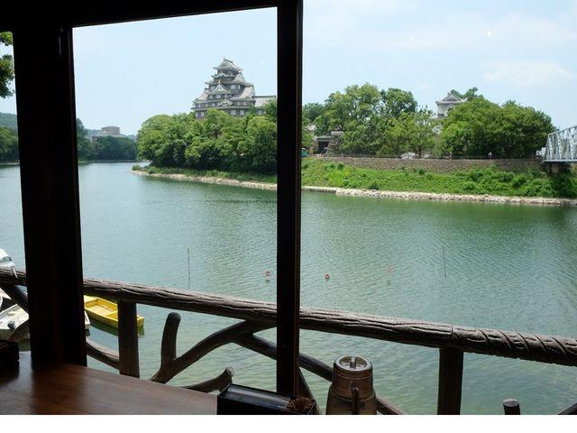 休憩は岡山城を見渡せる特等席でどうぞ♪_Caf'e&Restaurant&Boating 碧水園